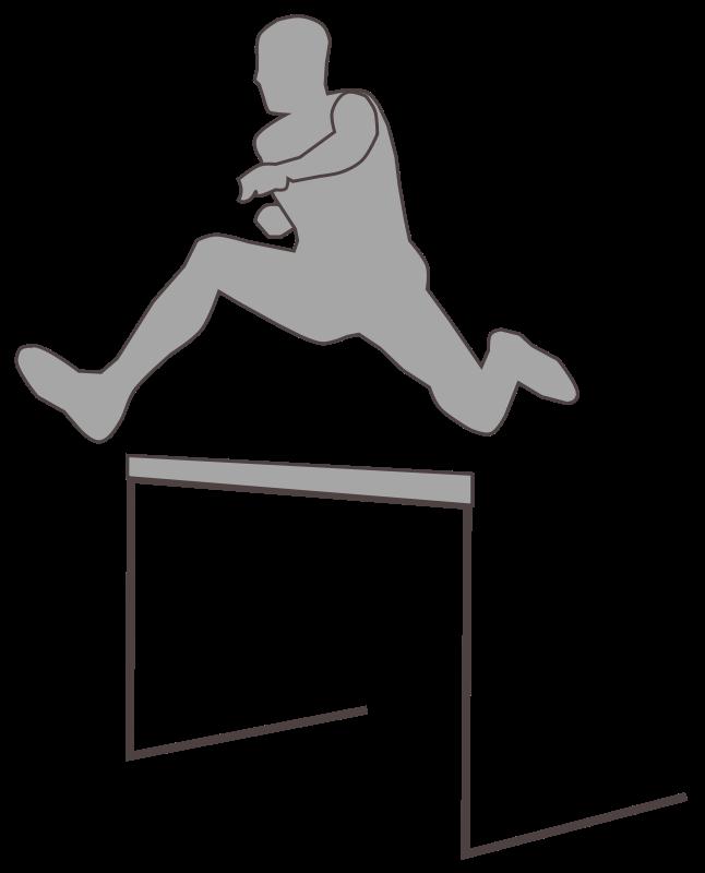 Free hurdling_silhouette