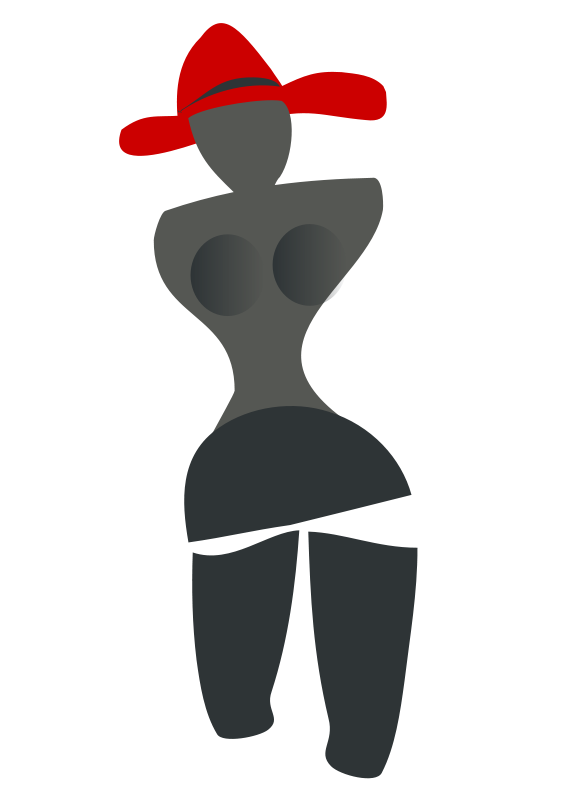 Free woman with a red hat