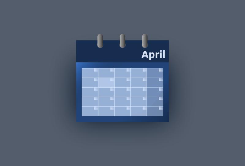 Free Blue UI calendar