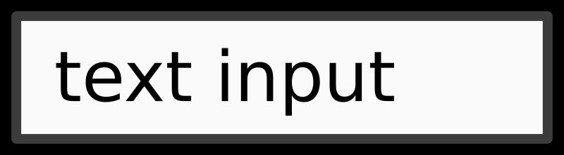 Free text input