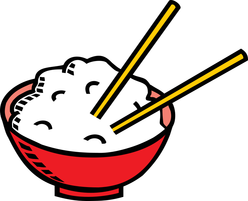 Free Bowl of rice and chopsticks