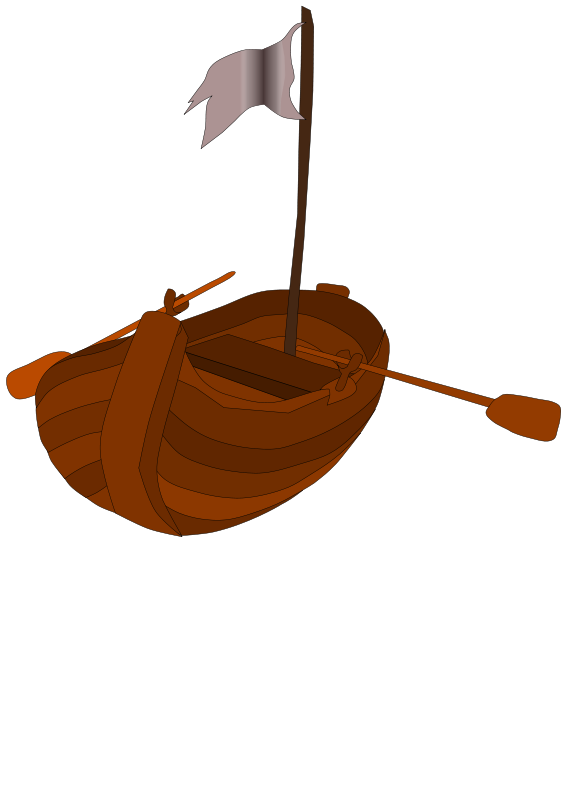 Free Clipart: A pirate rowboat | Eypros