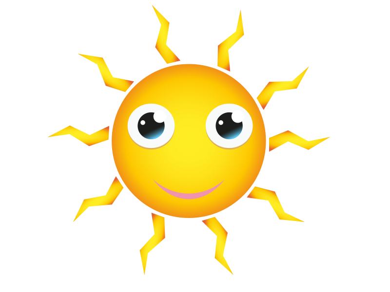 Free Happy Cartoon Sun