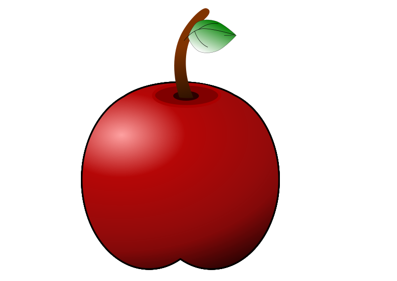 Free glossy apple