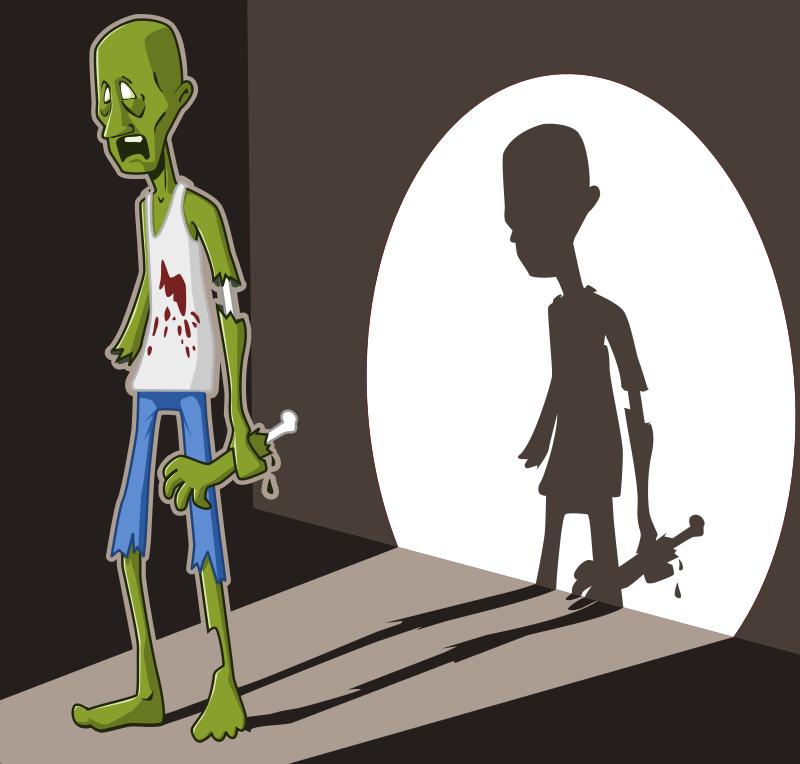 Free zombie in spotlight