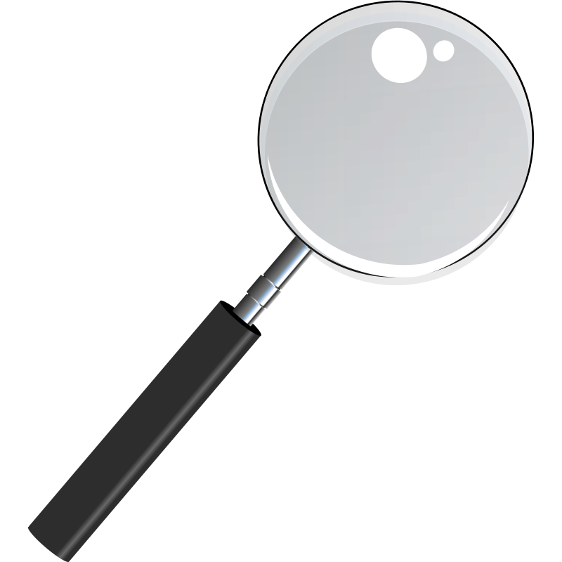 Free Magnifying Glass with Transparent Glass