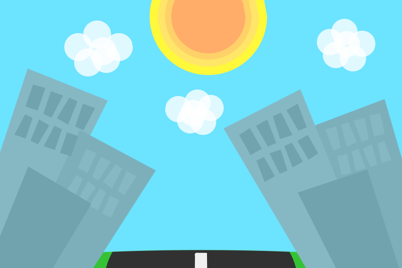 Free Cartoon Cities Background
