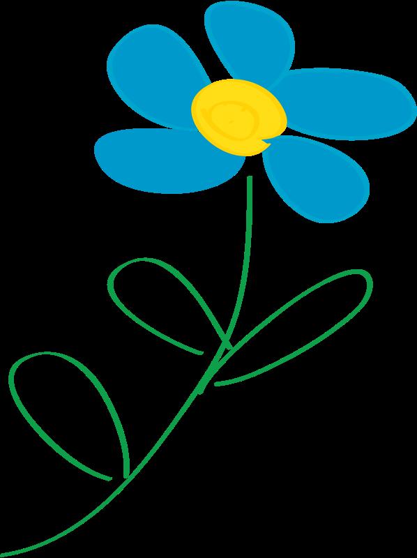 Free Whimsical Blue Flower