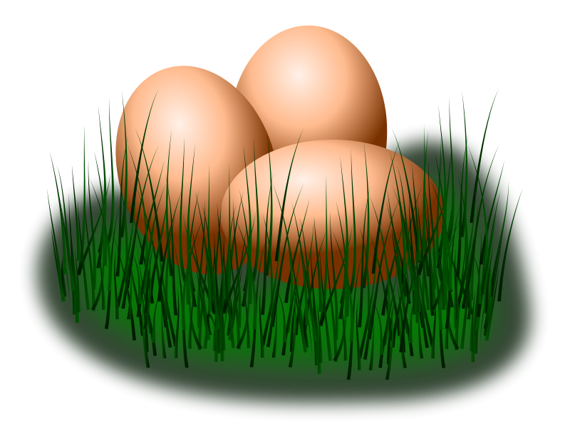 Free egg in grass
