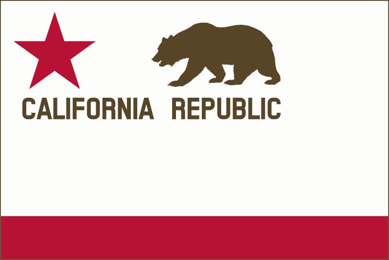 Free Bear Flag Revolt (Modernized) - border, solid