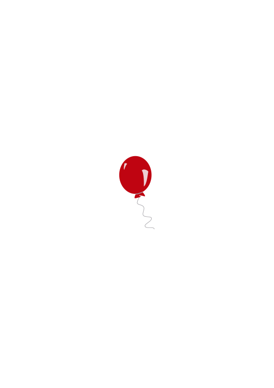 free clipart red balloon estitic
