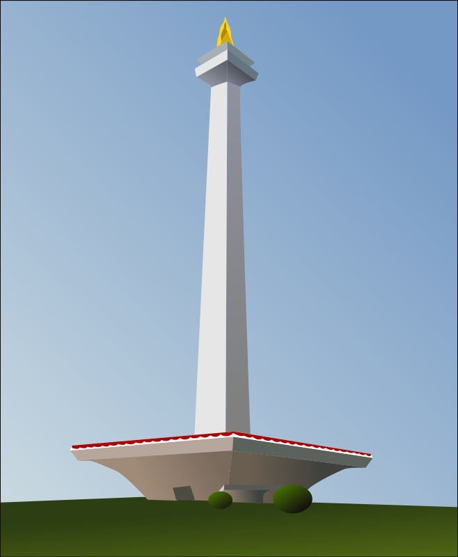 Free Clipart: Indonesia National Monument (Monas) | takien