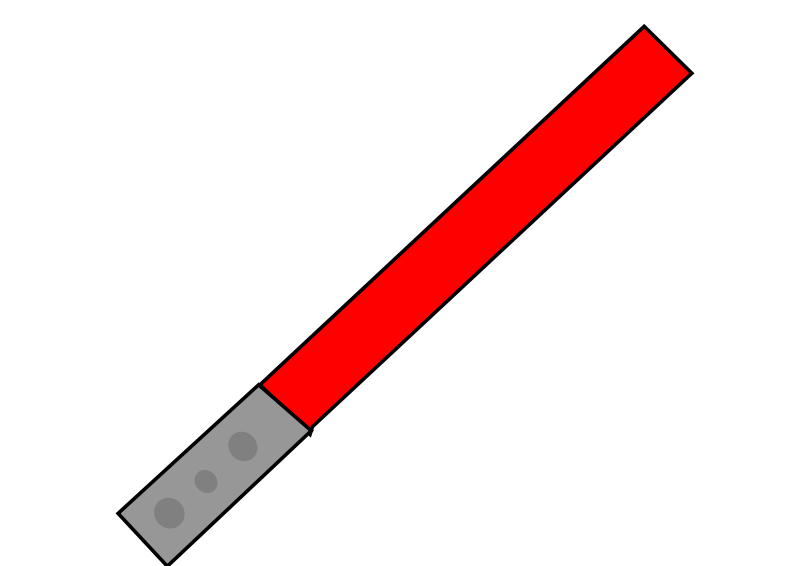 Free Clipart: Red Light Saber | ninja246810