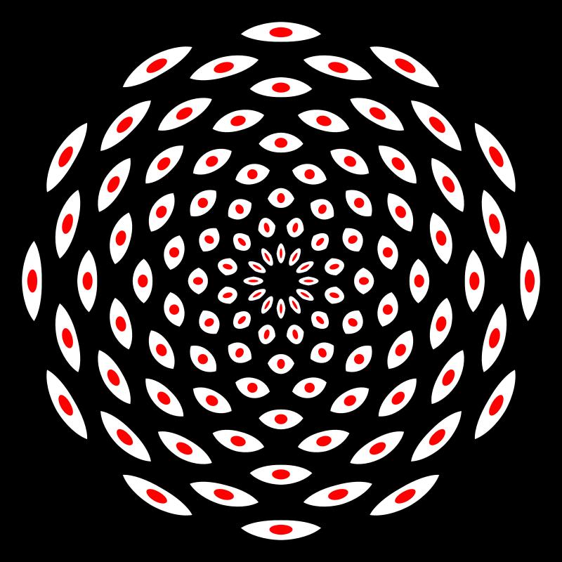 Free 108 Eyes Mandala