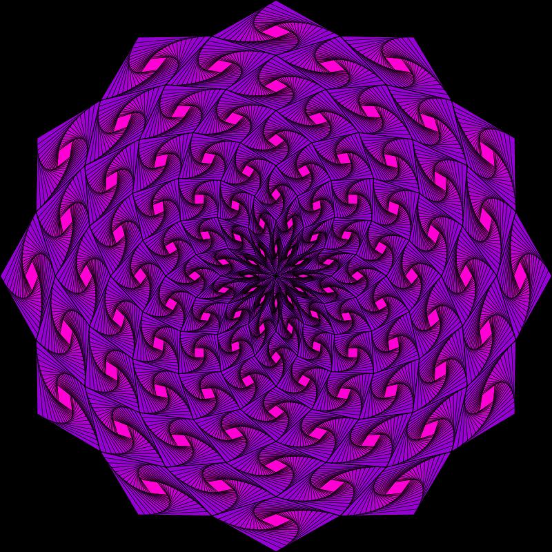 Free Weaving Iris Mandala