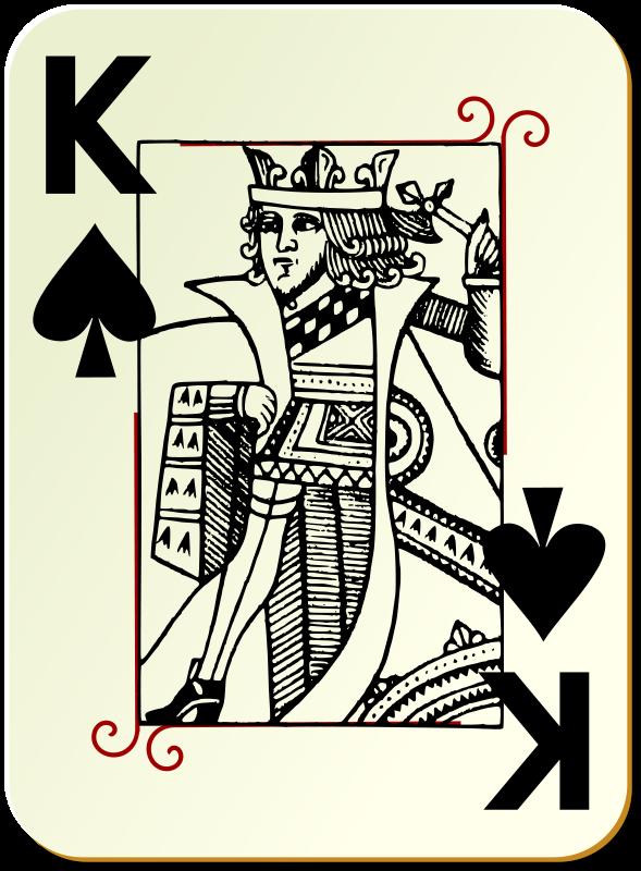 Free Guyenne deck: King of spades