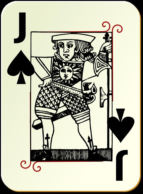 Free Guyenne deck: Jack of spades