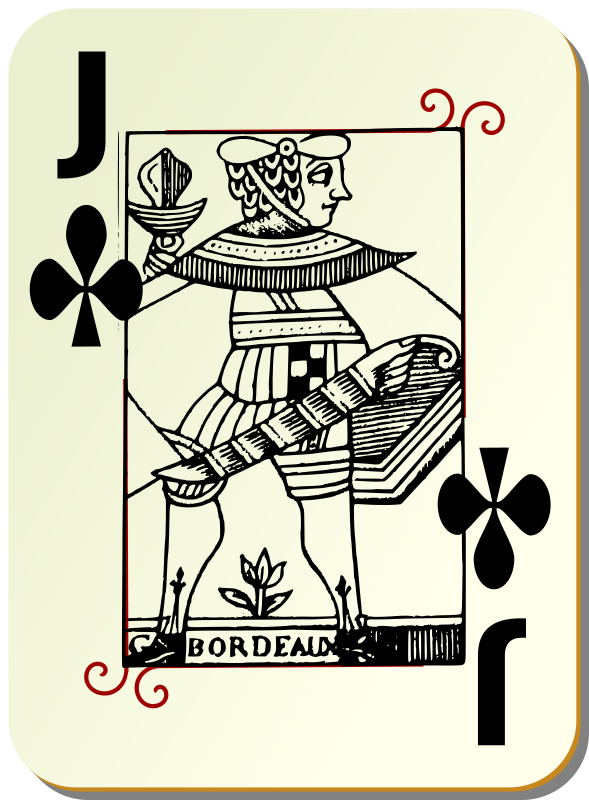 Free Guyenne deck: Jack of clubs