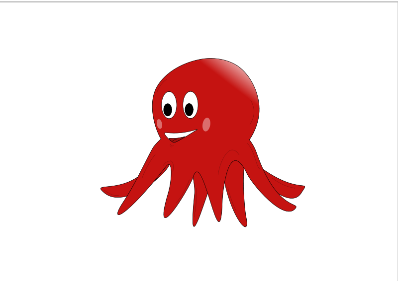 Free little red octopus