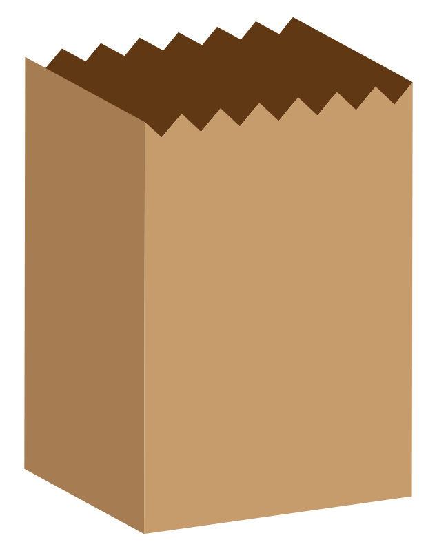Free Clipart Simple Paper Bag