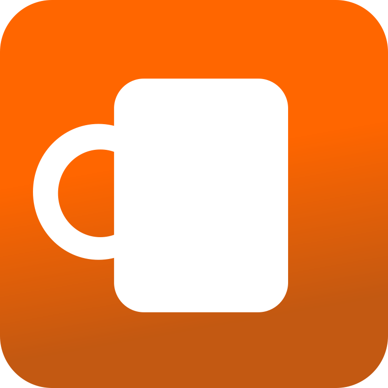 Free Clipart: Coffee mug icon - Orange BAckground | angelascanio