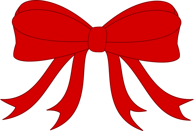 Free Red Bowed Ribbon