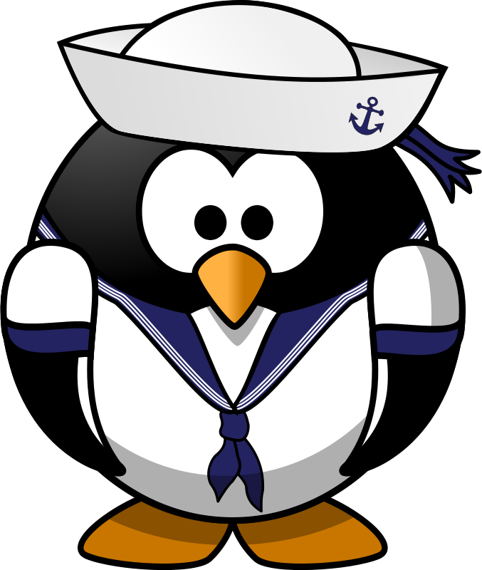 Free Sailor penguin