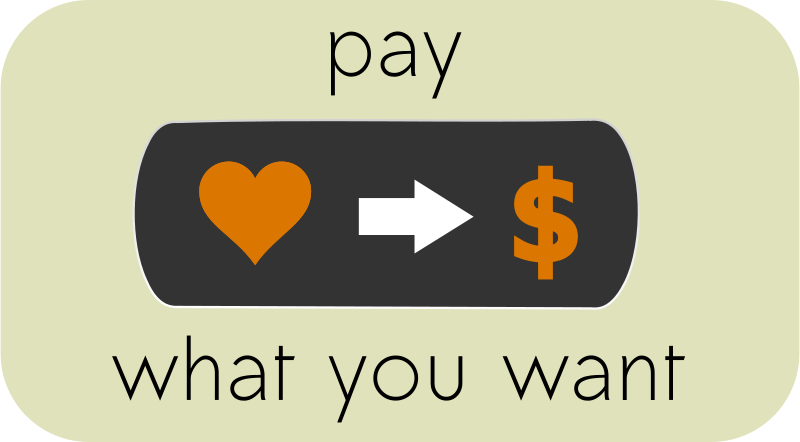 Free Pay What You Want Button 1