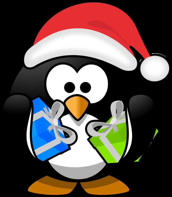 Free Santa penguin
