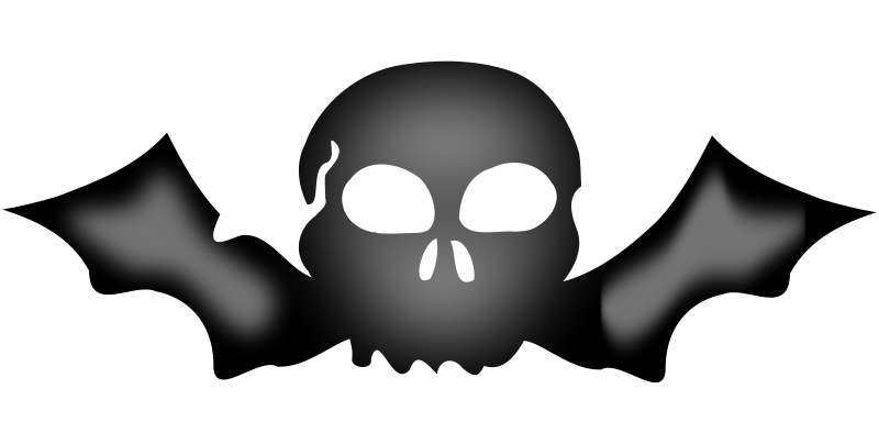 Free A skull with bat wings