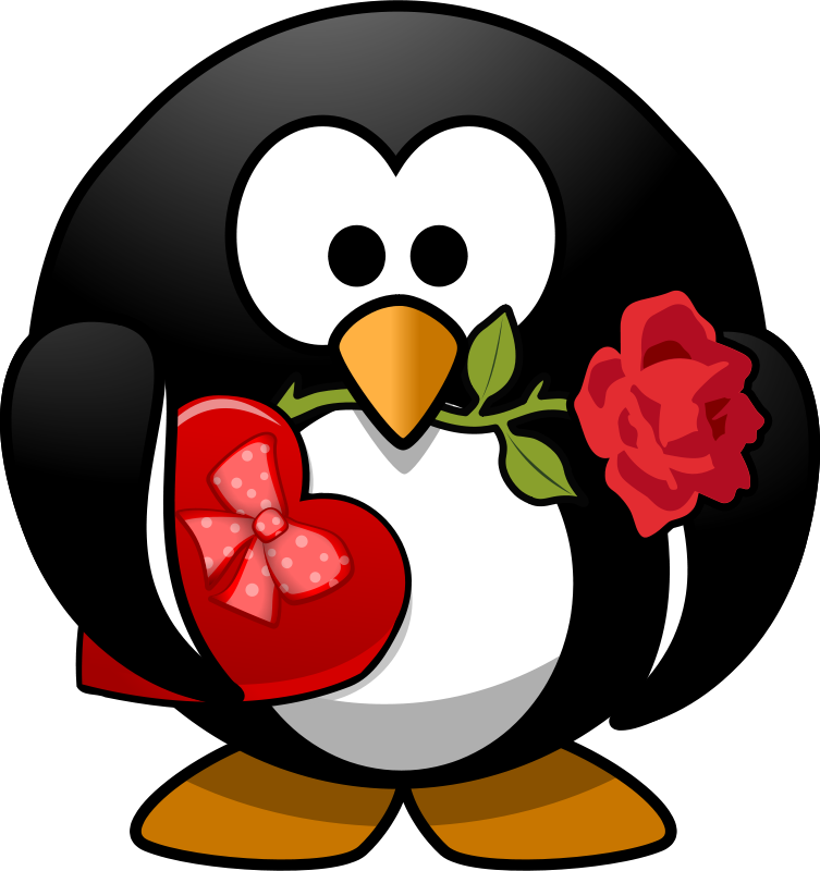 Free Valentine Penguin
