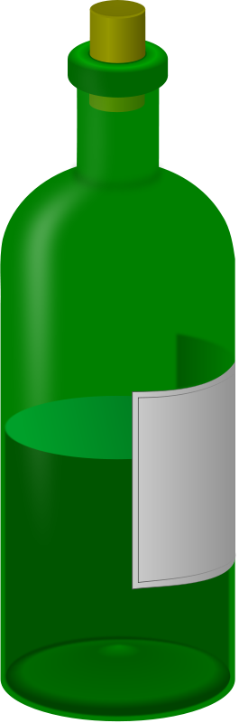 Free wine bottle with label