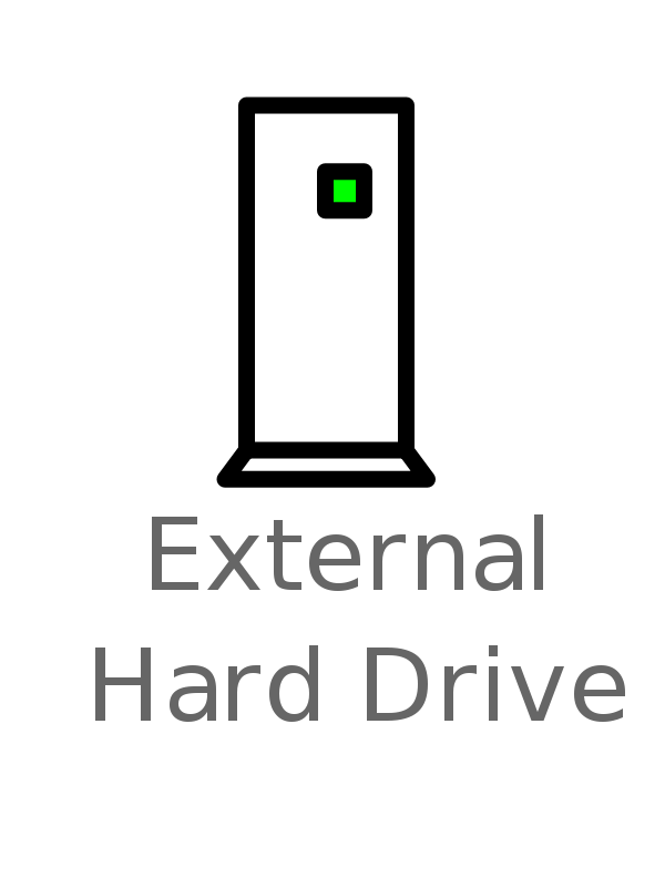 Free Clipart: External Hard Drive Labelled | witcombem