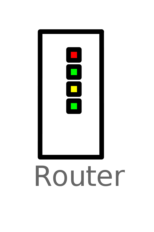 Free Clipart: Router Labelled | witcombem