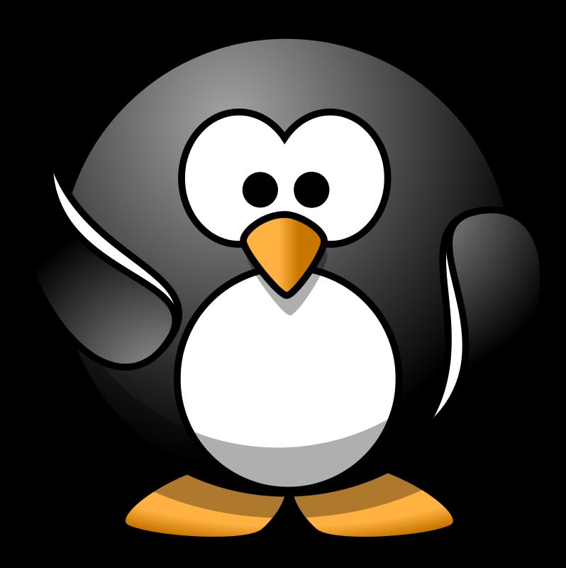 Free waving penguin