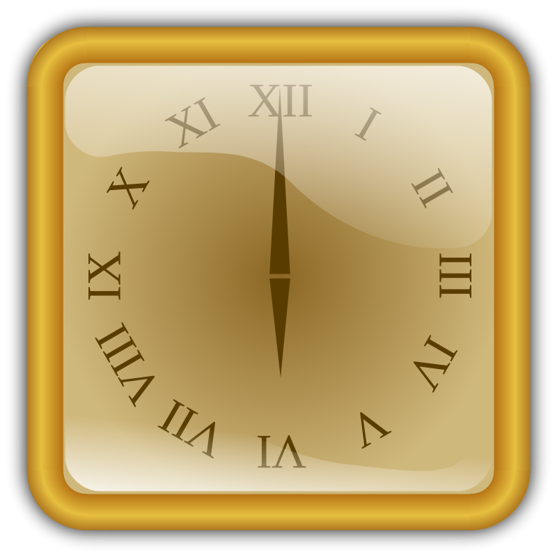 Free Golden clock. squared