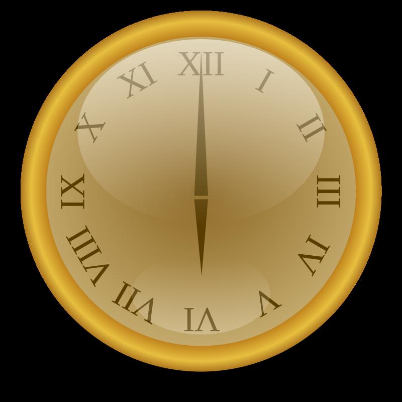 Free Golden clock