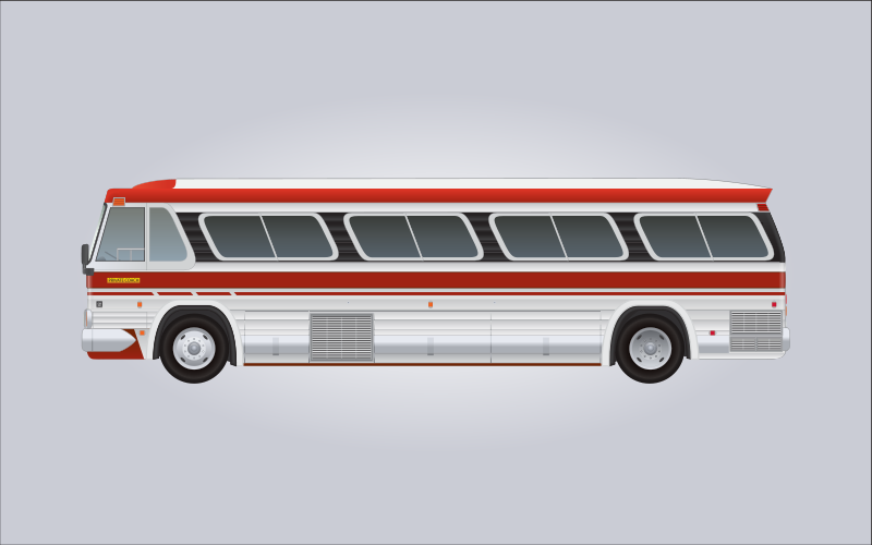 Free 1960's GM PD-4106 Bus
