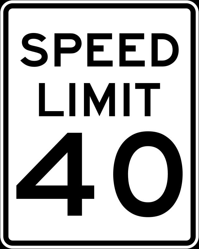 free clipart speed limit 40 rfc1394