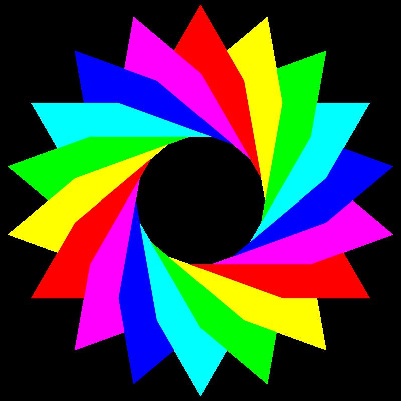 Free January 13 2013 6 triangles rainbow