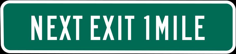 Free Next Exit 1 mile