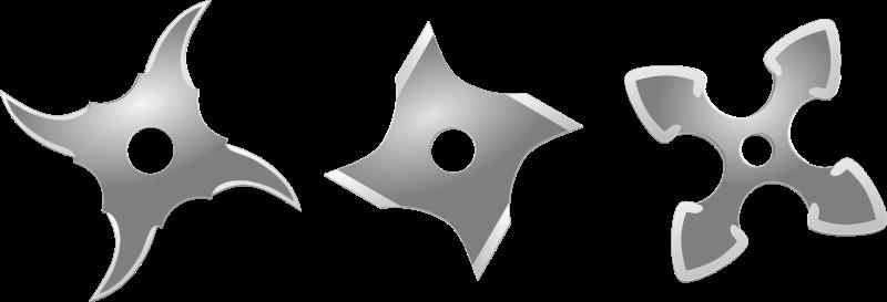 Free silver shurikens