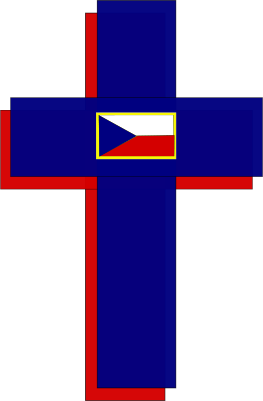 Free Cross and Czech Flag