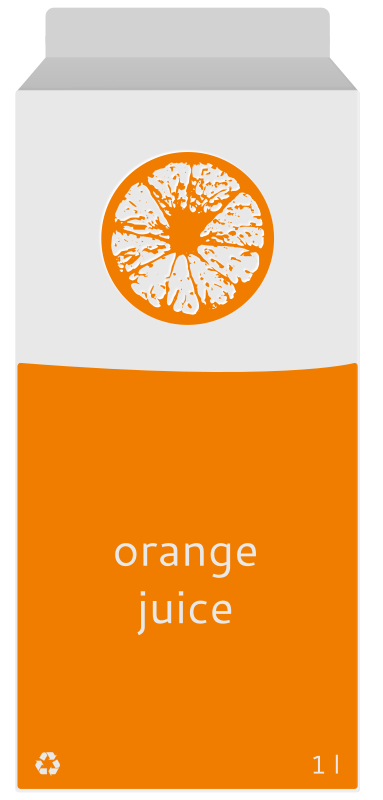 Free Orange juice carton