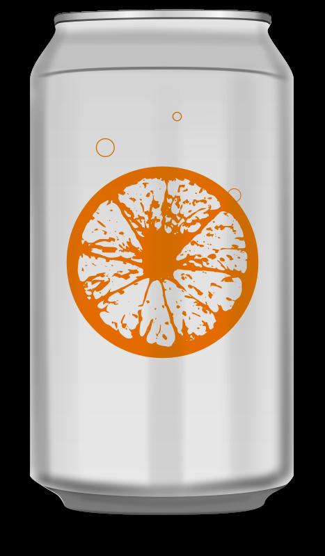 Free Orange soda can