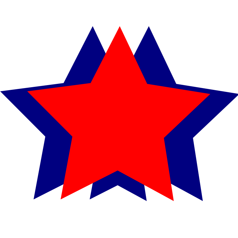 Free Stars - Red and Blue