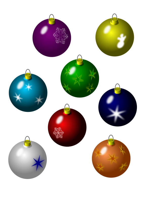 Christmas Bulbs.Free Clipart Christmas Bulbs Jarda