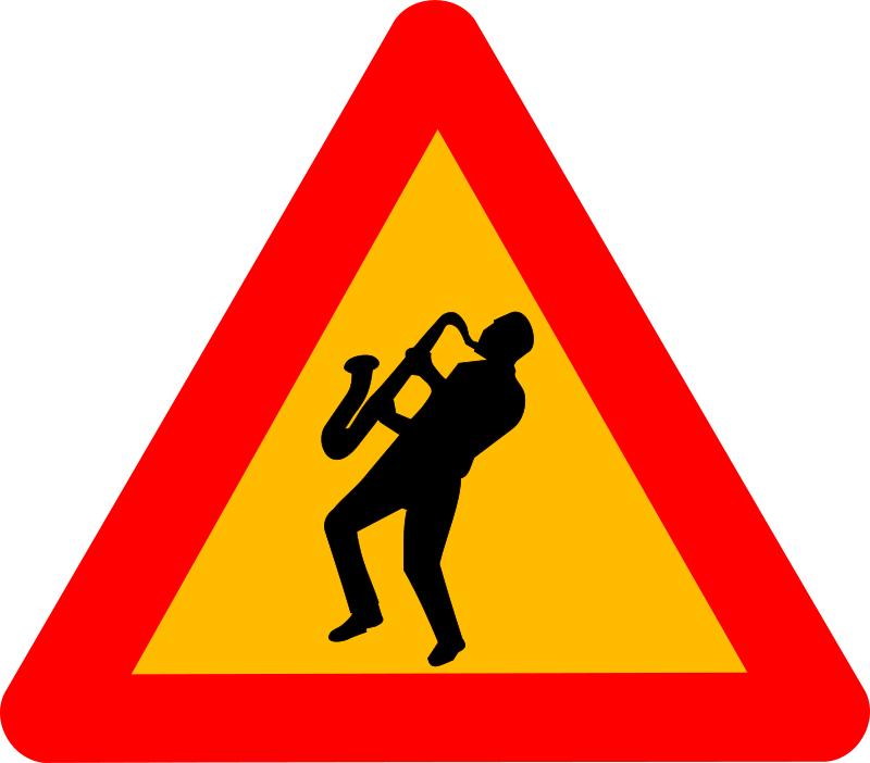 Free Clipart: Caution jazz | Objects