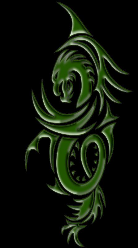 Free Clipart: Dragon tattoo | snagator