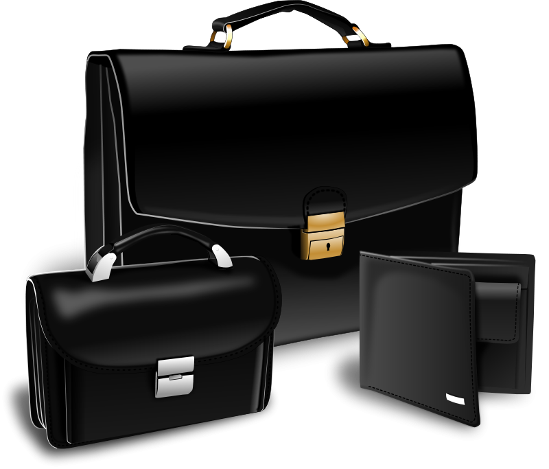 Free Suitcase, purse and handy
